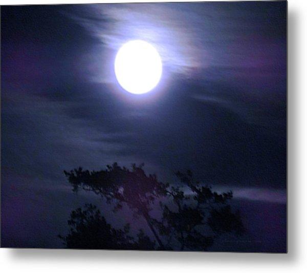 Full Moon Falling Metal Print