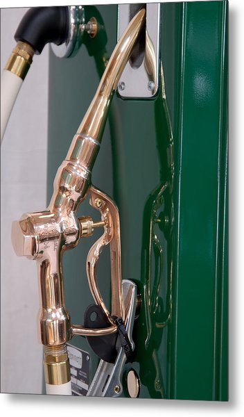 Gas Pump Handle Metal Print by David Campione