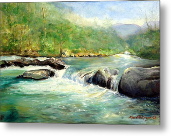 Gatlinburg River Metal Print by Max Mckenzie