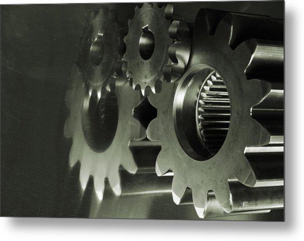 Gears And Cogwheels Metal Print