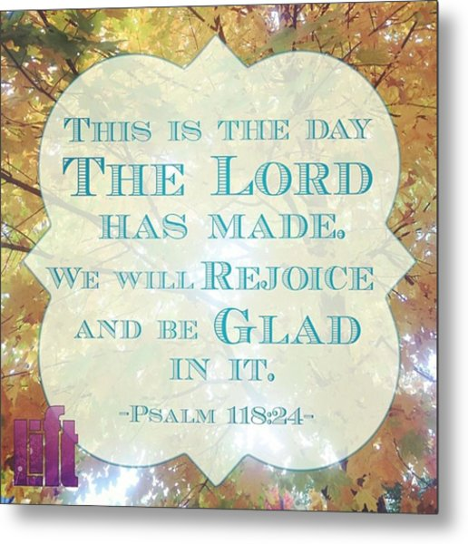 Give Thanks To The Lord, For He Is Metal Print