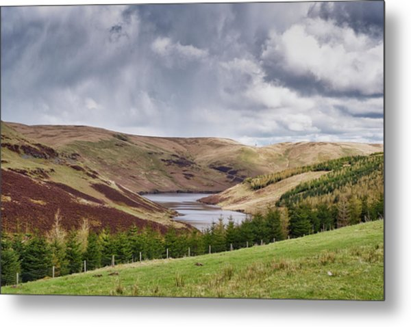Metal Print featuring the photograph Glensherup Reservoir by Jeremy Lavender Photography
