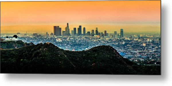 Golden California Sunrise Metal Print