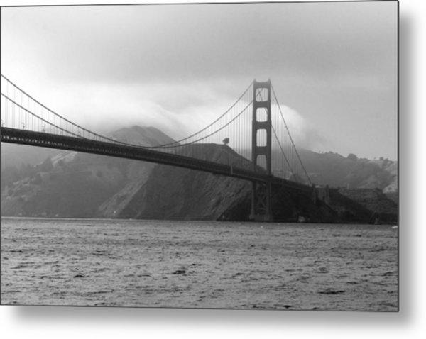 Golden Gate Metal Print by Ofelia  Arreola