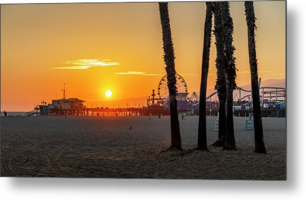 Golden Glow At Sunset Metal Print