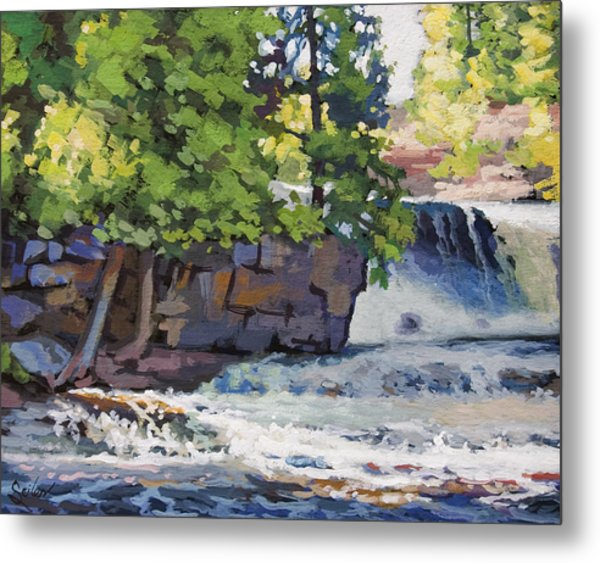 Gooseberry Falls Metal Print by Larry Seiler