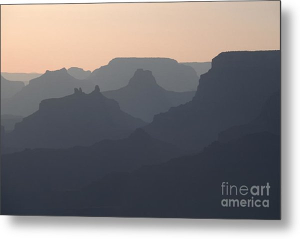 Grand Canyon Pastel Metal Print by Stan and Anne Foster
