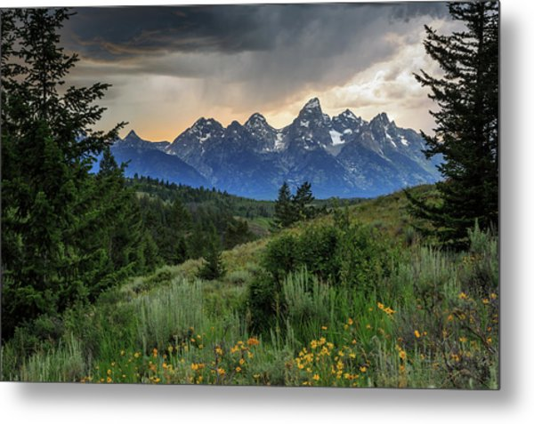Grand Stormy Sunset Metal Print