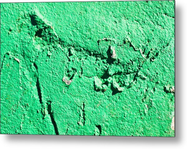 Green Background Metal Print