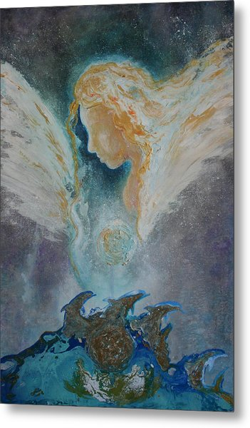 Angelic Encounters  Metal Print