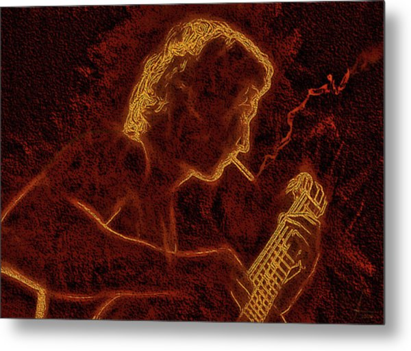 Guitar Player Metal Print