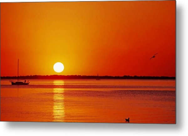 Gulf Of Mexico Sunset Metal Print
