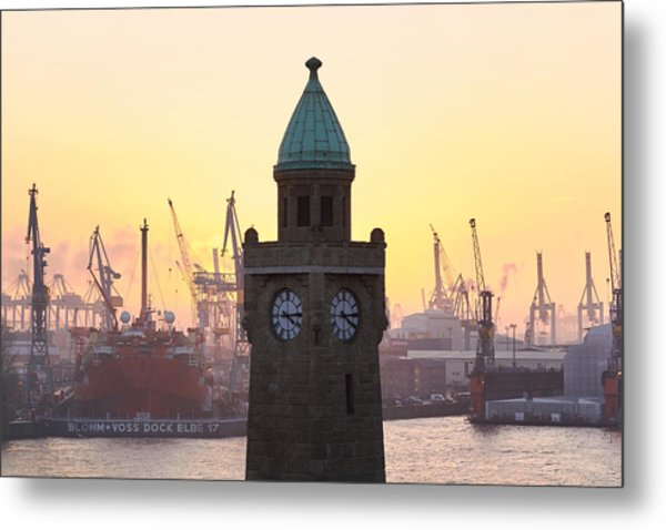 Metal Print featuring the photograph Hamburg Sunset by Marc Huebner