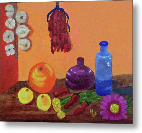 Hanging Around With Spices Metal Print