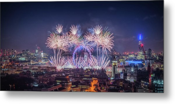 Happy New Year 2018 Metal Print