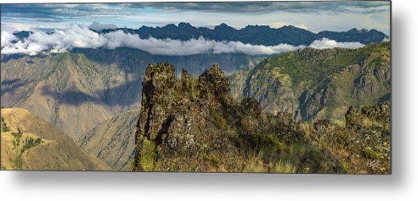Hells Canyon Panoramic Metal Print by Leland D Howard