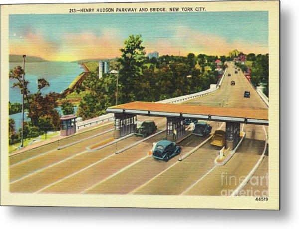 Henry Hudson Bridge Postcard  Metal Print