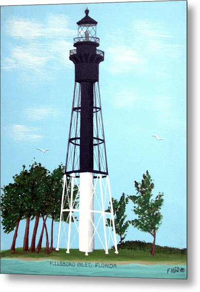 Hillsboro Inlet Lighthouse Metal Print by Frederic Kohli