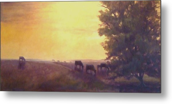 Hillside Silhouettes Metal Print by Ruth Stromswold