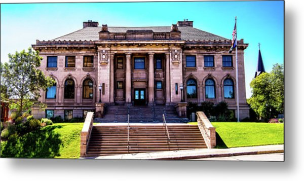 Metal Print featuring the photograph Historic Public Library by Onyonet  Photo Studios