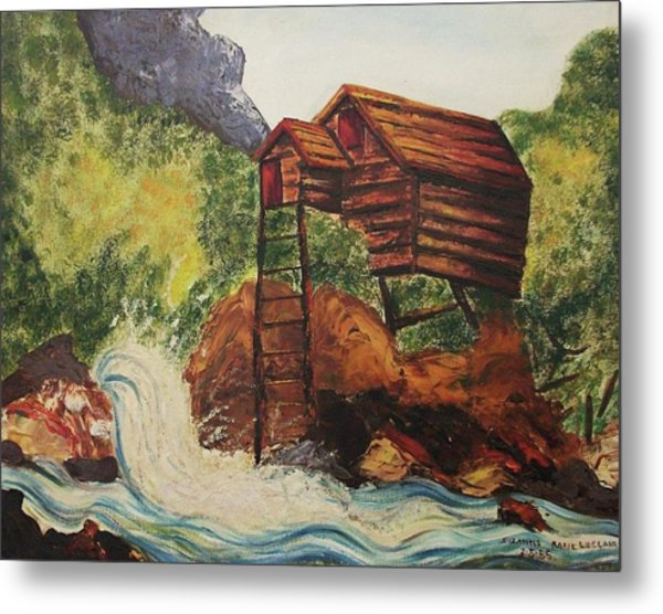 House On Stilts Metal Print by Suzanne  Marie Leclair