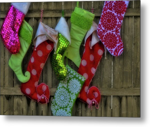 Stockings Hung With Care Metal Print by JAMART Photography