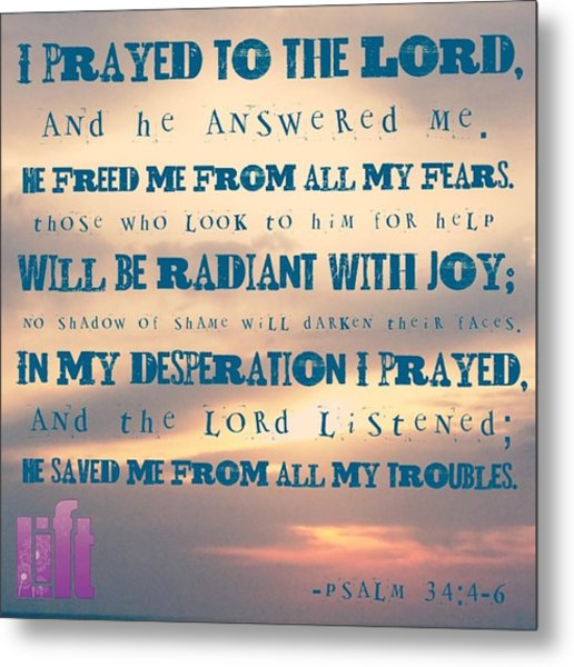 I Will Praise The Lord At All Times.  I Metal Print