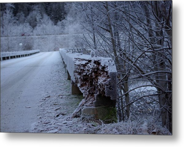 Ice Bridge Metal Print