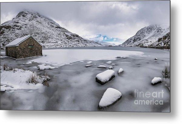 Icy Lake Snowdonia Metal Print