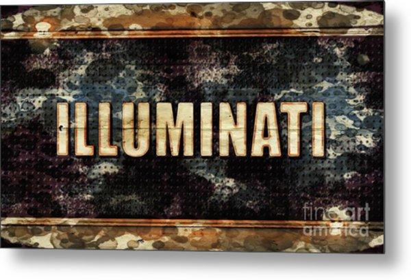 Illuminati Pop Art By Mary Bassett Metal Print