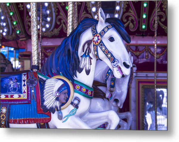 Indian Chiefs Horse Metal Print