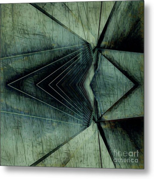 Industrial Bridge Grey Metal Print