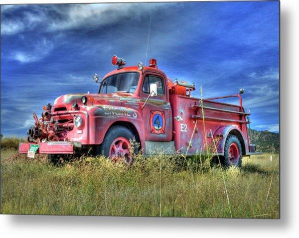 International Fire Truck 2 Metal Print