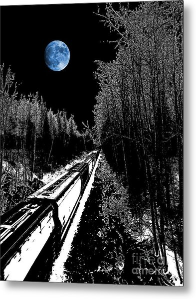 Into The Night Blues Metal Print by The Stone Age
