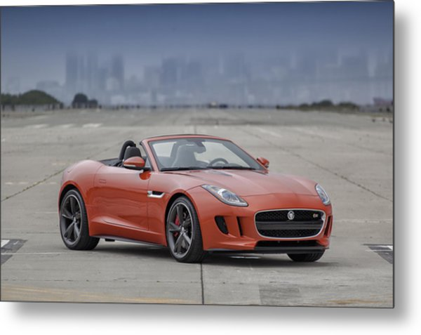 Metal Print featuring the photograph Jaguar F-type Convertible by ItzKirb Photography