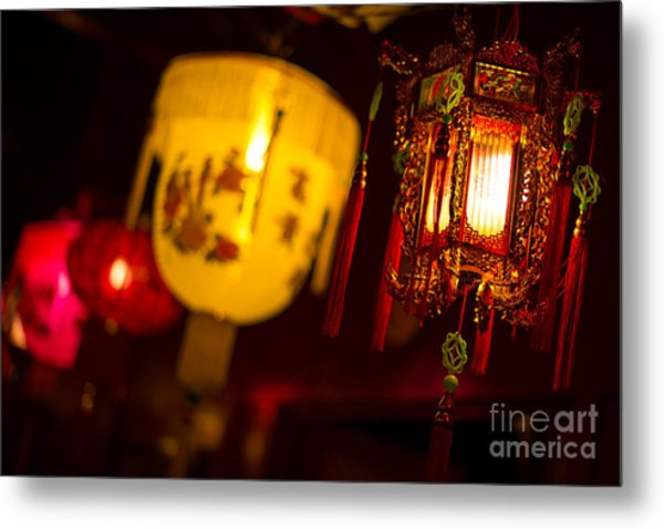 Japanese Lanterns 6 Metal Print