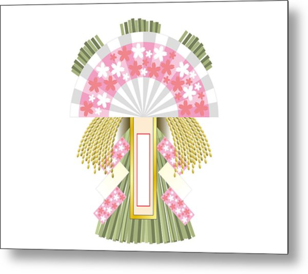 Japanese Newyear Decoration Metal Print