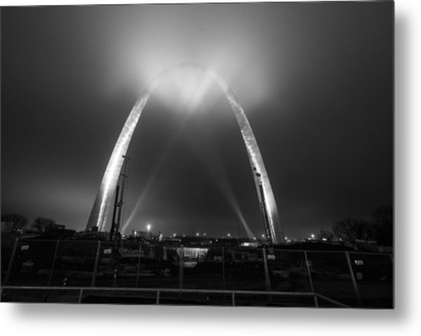 Jefferson Expansion Memorial Gateway Arch Metal Print