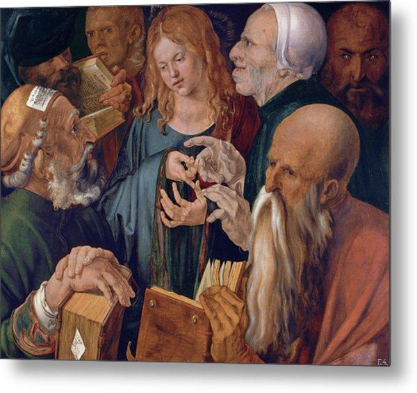 Jesus Among The Doctors Metal Print