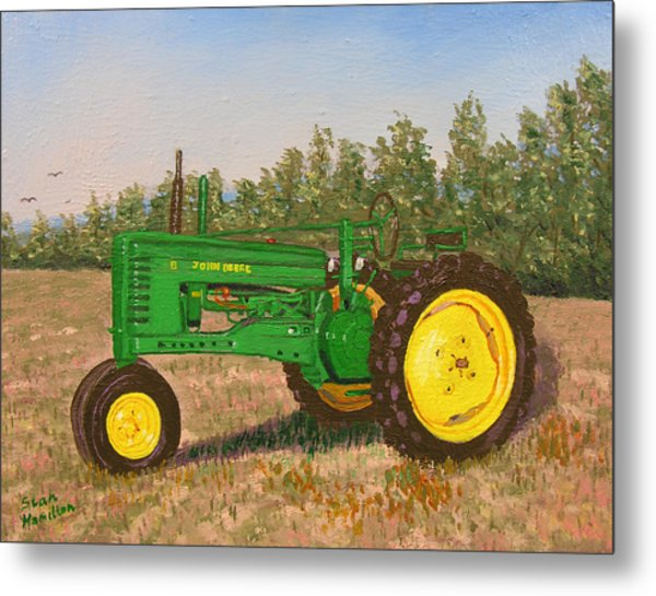 John Deere Model B Metal Print by Stan Hamilton
