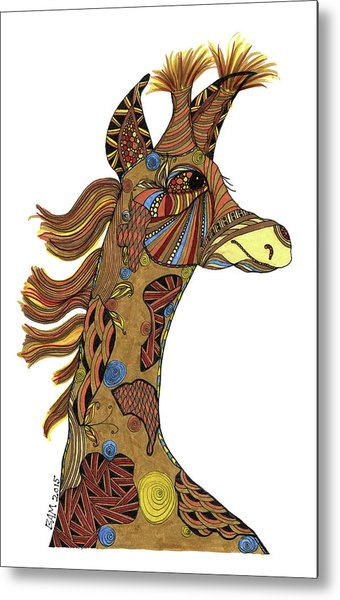 Josi Giraffe Metal Print