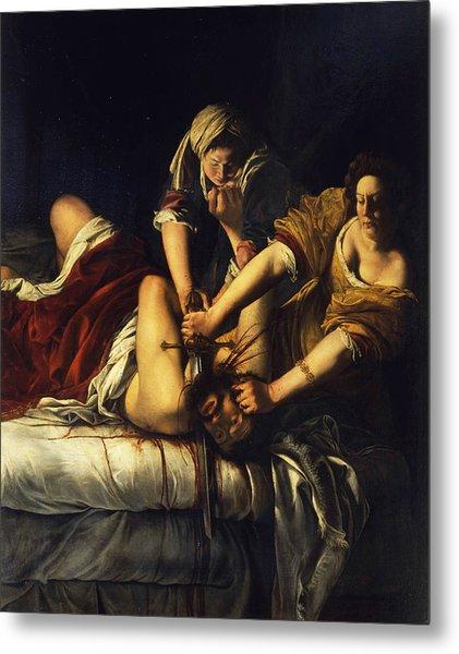 Judith Beheading Holofernes Metal Print