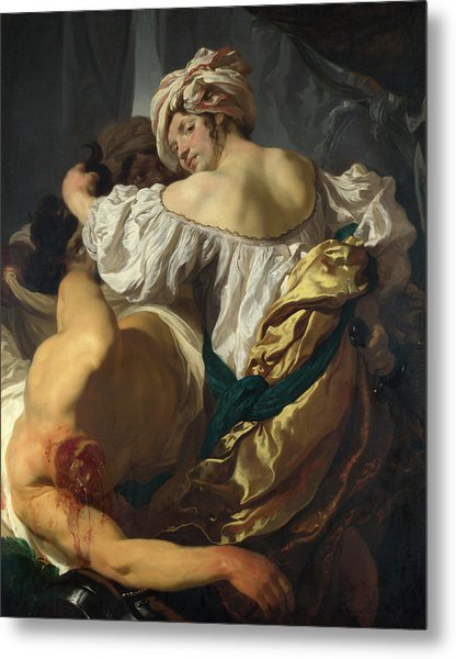 Judith In The Tent Of Holofernes Metal Print