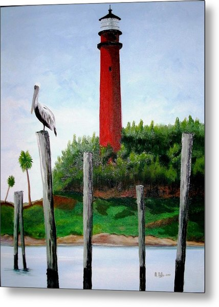 Jupiter Lighthouse Number Two Metal Print