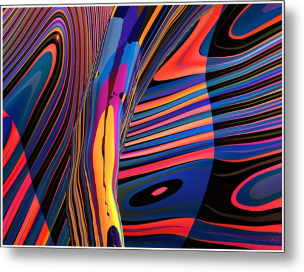 Kaleido-fa-callig. 10x11m37 Wide 11i Metal Print by Terry Anderson