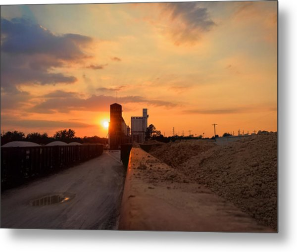 Katy Texas Sunset Metal Print