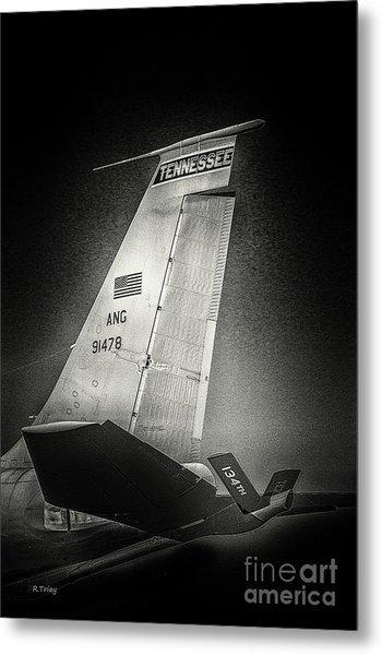Kc_135 In Flight Refueling Tanker Metal Print