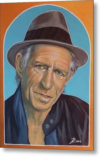 Keith Richards  Metal Print by Jovana Kolic