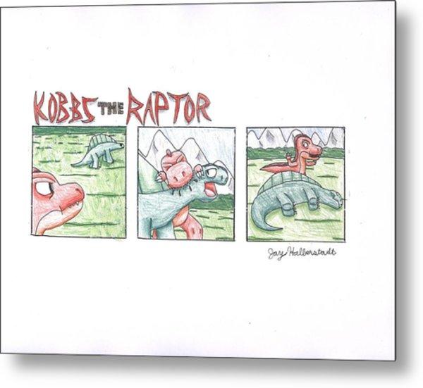 Kobbs The Raptor Metal Print by Jayson Halberstadt