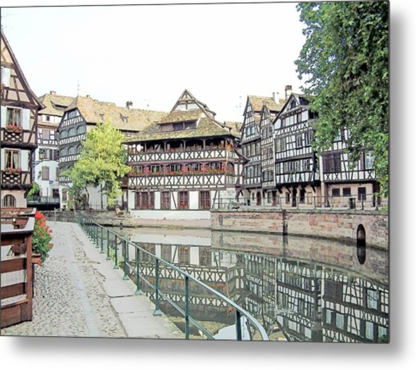 La Petite France Strasbourg France Color Pencil Metal Print